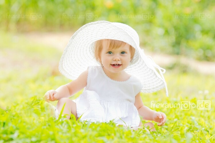 baby in spring